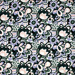 Hunter Sage Mod Floral Cotton Jersey Spandex Blend Knit Fabric