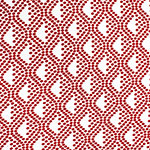 Red White Groovy Dots Cotton Jersey Spandex Blend Knit Fabric