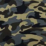 Cocoa Gray Black Camo Double Brushed Jersey Spandex Blend Knit Fabric