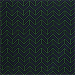 Green Black Geo Arrow on Navy Cotton Jersey Spandex Blend Knit Fabric