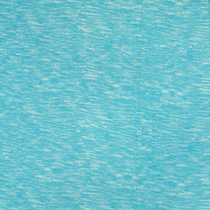 Aqua Blue White Heather Stripes Cotton Spandex Blend Knit Fabric