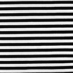 Black White Small Stripe Cotton Spandex Knit Fabric
