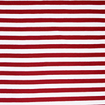 True Red White Small Stripe Cotton Spandex Knit Fabric