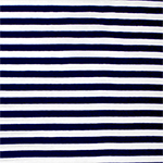 Navy Blue White Small Stripe Cotton Spandex Knit Fabric