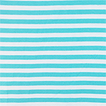 Aqua Blue White Small Stripe Cotton Spandex Knit Fabric