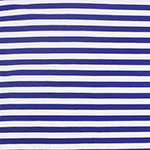 Royal Blue White Small Stripe Cotton Spandex Knit Fabric