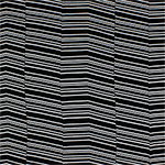 White Zig Zag Lines on Black Cotton Spandex Blend Knit Fabric
