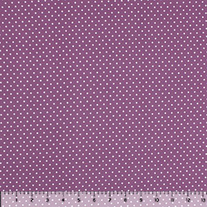 White Pin Dots on Lilac Double Brushed Jersey Spandex Blend Knit Fabric