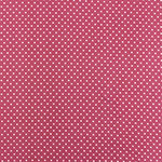 White Pin Dots on Mauve Double Brushed Jersey Spandex Blend Knit Fabric