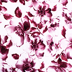 Big Burgundy Pink Watercolor Floral Double Brushed Jersey Spandex Blend Knit Fabric