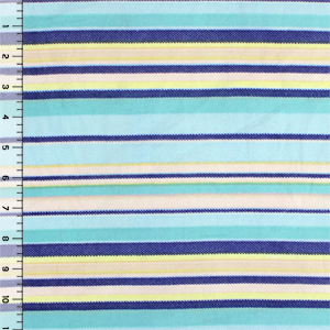 Pastel Dotty Cabana Stripe Double Brushed Jersey Spandex Blend Knit Fabric