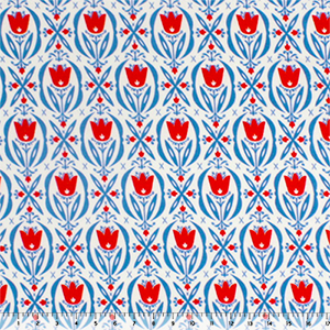 Cerulean & Poppy Tulips Modal Cotton Spandex Knit Fabric