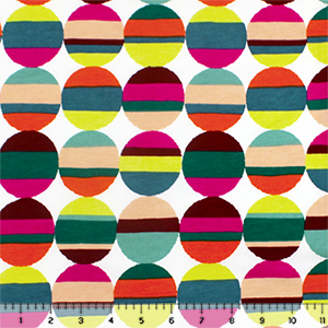 Colorful Retro Stripe Dots Modal Cotton Spandex Knit Fabric