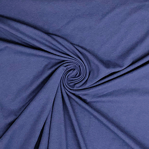 Indigo Blue Solid Cotton Spandex Knit Fabric
