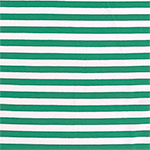 True Kelly Green White Small Stripe Cotton Spandex Knit Fabric