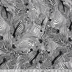 Black White Zebra Maze Cotton Spandex Blend Knit Fabric