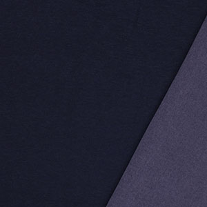 Dark Indigo Stretch Denim Cotton Spandex Blend Knit Fabric