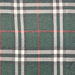 Vintage Hunter Charcoal Red Big Plaid Cotton Spandex Blend Knit Fabric