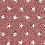 Distressed Stars on Marsala Heather Cotton Jersey Spandex Blend Knit Fabric