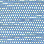 White Polka Dots on Frost Blue Double Brushed Jersey Spandex Blend Knit Fabric