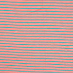 Small Aqua Stripes on Dusty Pink Cotton Jersey Spandex Blend Knit Fabric