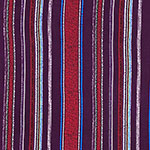 Eggplant Red Vintage Vertical Stripe Double Brushed Jersey Spandex Blend Knit Fabric