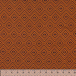 Caramel Cocoa Diamond Geo Double Brushed Jersey Spandex Blend Knit Fabric