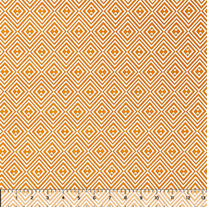 Mustard White Diamond Geo Double Brushed Jersey Spandex Blend Knit Fabric