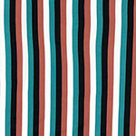 Twilight Vertical Stripe Double Brushed Jersey Spandex Blend Knit Fabric