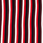 Sunset Vertical Stripe Double Brushed Jersey Spandex Blend Knit Fabric