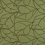 Olive Abstract Leaf On Green Heather Bamboo Spandex Blend Knit Fabric