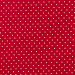 Metallic Silver Dots on Red Cotton Spandex Blend Knit Fabric