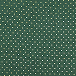 Metallic Gold Dots on Forest Green Cotton Spandex Blend Knit Fabric