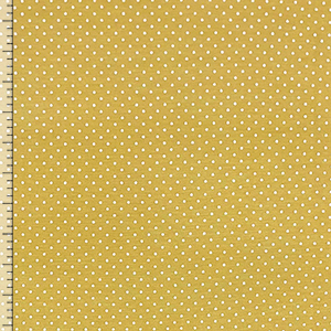 Cream Pin Dots on Biscotti Cotton Spandex Blend Knit Fabric