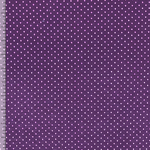 Lavender Pin Dots on Plum Cotton Spandex Blend Knit Fabric