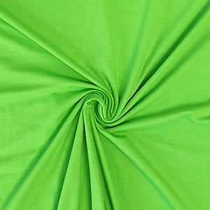 Lime Green Solid Cotton Spandex Knit Fabric