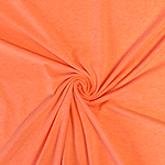 Neon Heather Orange Solid Cotton Spandex Knit Fabric