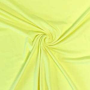 Neon Heather Yellow Solid Cotton Spandex Knit Fabric