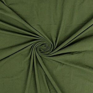 Army Green Solid Cotton Spandex Knit Fabric