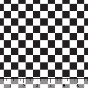 Classic Black White Checkered Squares Cotton Spandex Knit Fabric