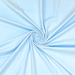 Light Blue Solid Cotton Spandex Knit Fabric