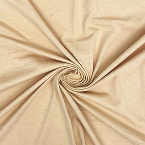 Khaki Sand Solid Cotton Spandex Knit Fabric