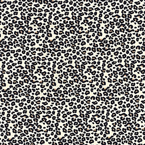 Small Black Leopard on Light Beige Modal Spandex Blend Knit Fabric