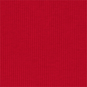 True Red Wide Wale Cotton Ribbing Knit Fabric