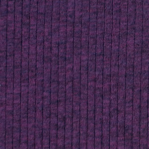 Heather Purple Wide Wale Cotton Ribbed Knit Fabric