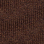 Heather Cocoa Brown Wide Wale Cotton Ribbed Knit Fabric