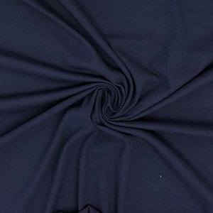 Navy Blue Solid Cotton Spandex Blend Rib Knit Fabric