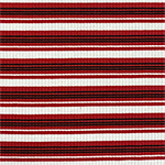 Red Black Retro Stripe Jersey Spandex Blend Ribbed Knit Fabric