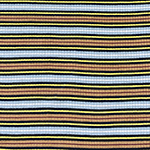 Tan Black Sky Retro Stripe Jersey Spandex Blend Ribbed Knit Fabric