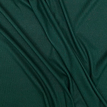 Dark Green Solid Jersey Spandex Blend Ribbed Knit Fabric